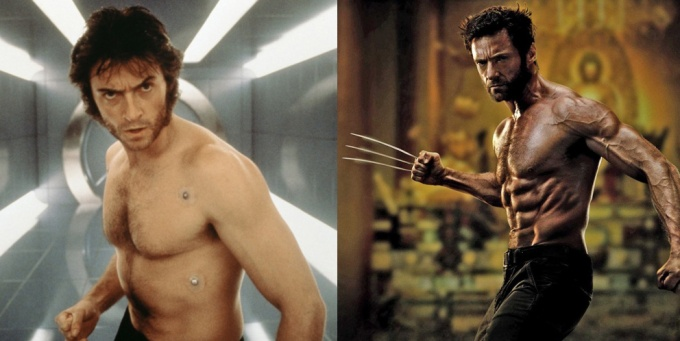 Before and After: Jackman as Logan back in 2000, and now in 2013. Christ, what does the man live off of, Lions?